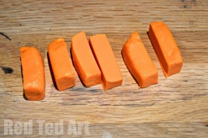 How to make icing carrots