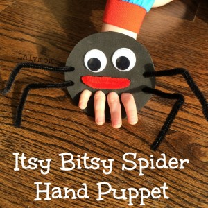 Itsy Bitsy Spider Hand And Finger Puppet From 23 Nursery Rhyme Activities