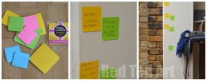 Quick Colourful DIY Growth Chart Full Adhesive Post it Notes