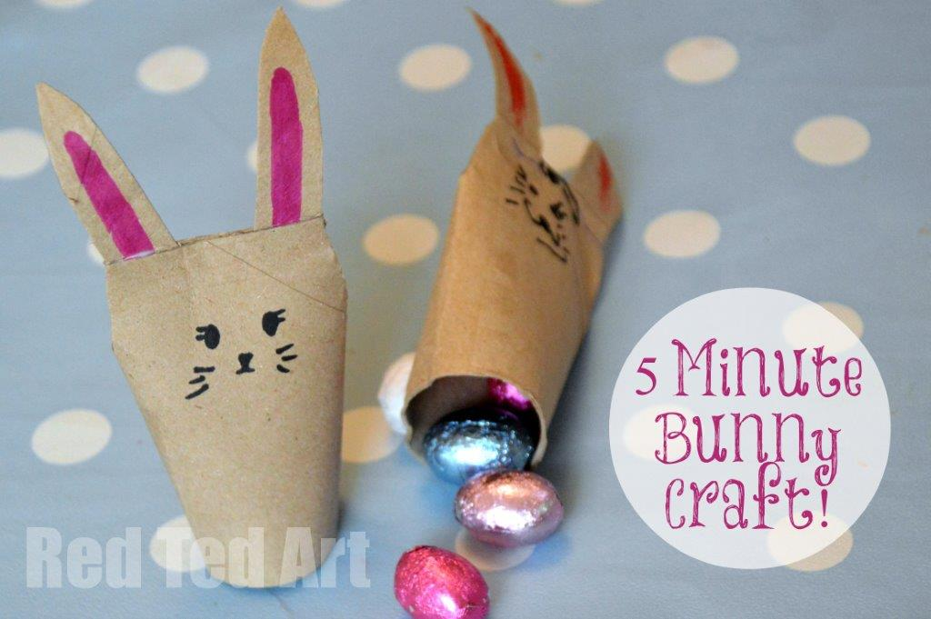 Quick Toilet Paper Roll Bunnies East Crafts For Kids Red Ted