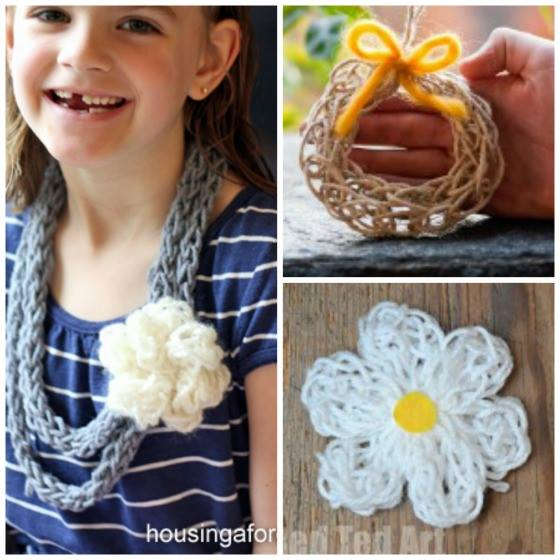 "So many wonderful finger knitting ideas - find a great ""finger knitting tutorial"" + many ideas of what to make out of your knitting!"
