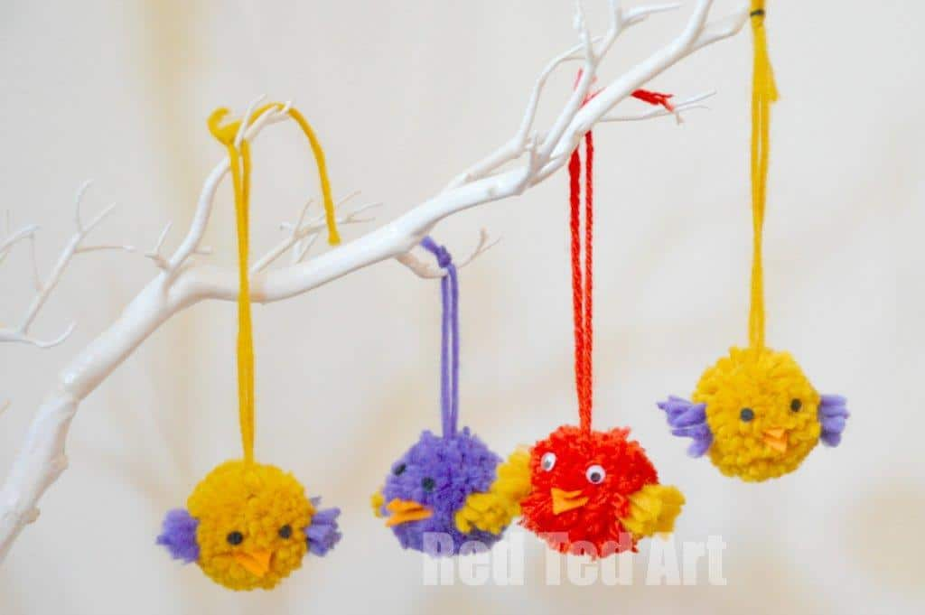 pom pom birds craft