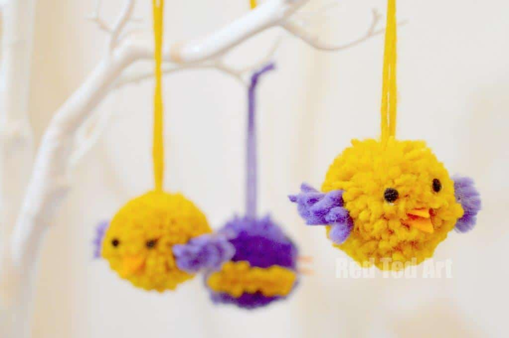 25 pom pom crafts to make you pom pom crazy for Cute pom pom crafts