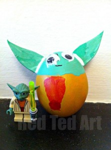 yoda egg decorating idea