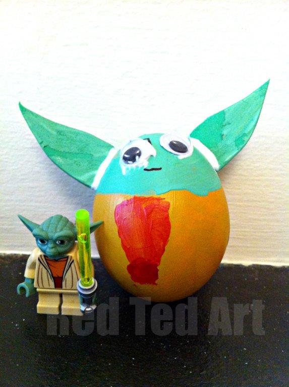 yoda egg decorating idea
