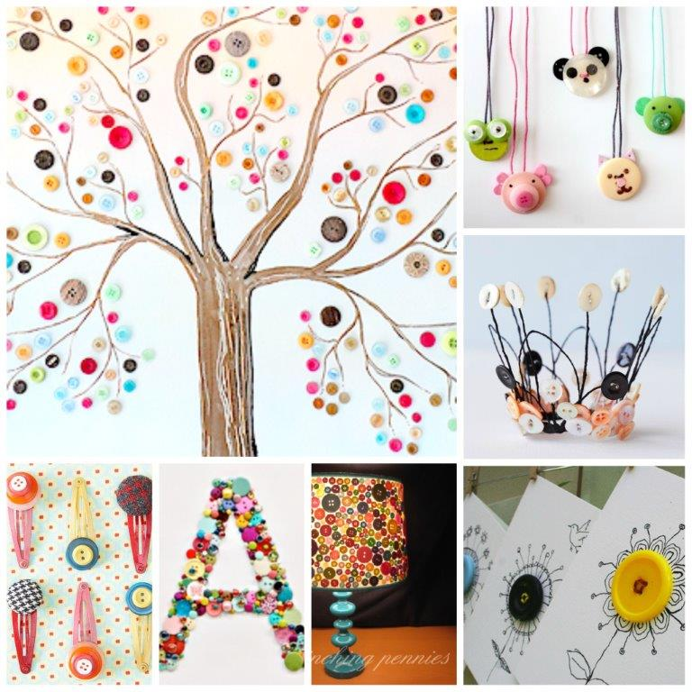 40 GORGEOUS Wonderful Button Crafts