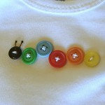 Button Caterpillar Craft