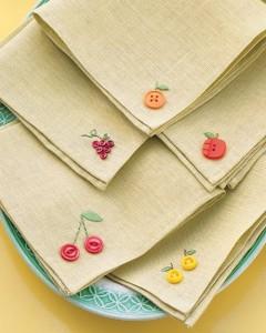 Button Crafts napkins