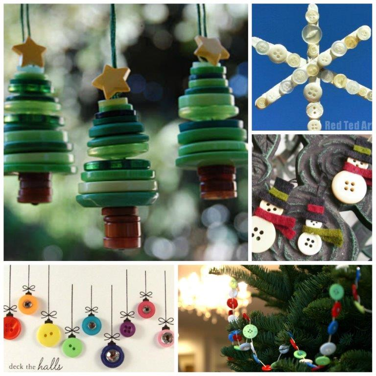 Charming Great Christmas Craft Ideas Part - 3: Christmas Button Craft Ideas (including Button Gift Ideas)