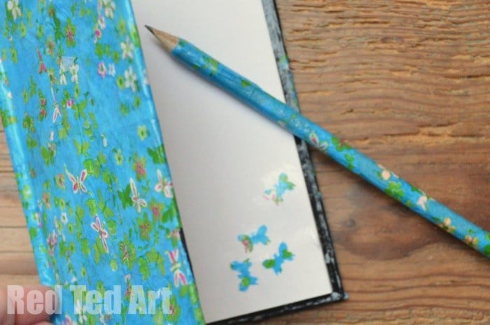 Decoupage Notebooks – gifts kids can make