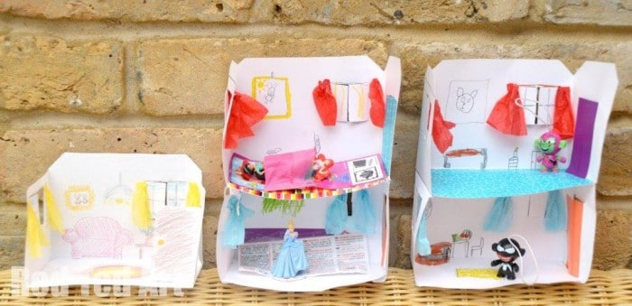 Design Your Own Paper House - add or rooms, decorate, draw, play