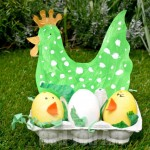 Easter Craft Chicks and Hen