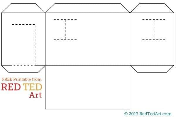 Design Your Own House Paper House Printable Red Ted Arts Blog – Paper House Template