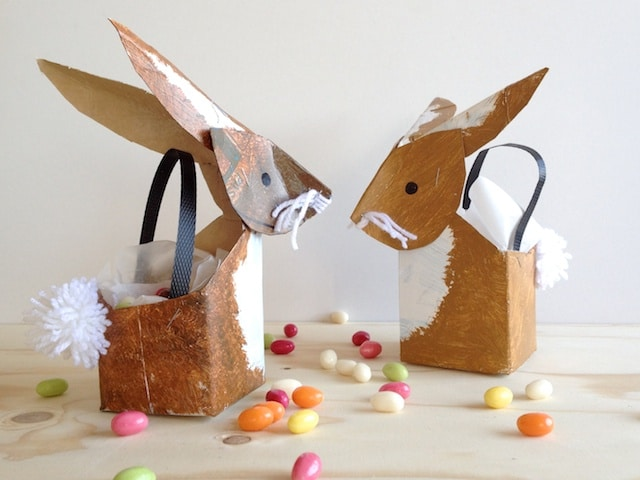 Milk Carton Crafts - bunny baskets