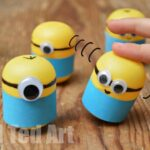 Minion Crafts – Weebles made from Kindersurprise Egg Capsules!