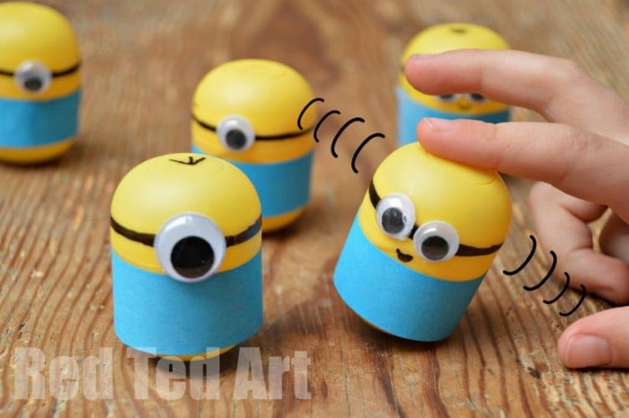Minion Camera Case : Minion crafts weebles made from kindersurprise egg capsules! red