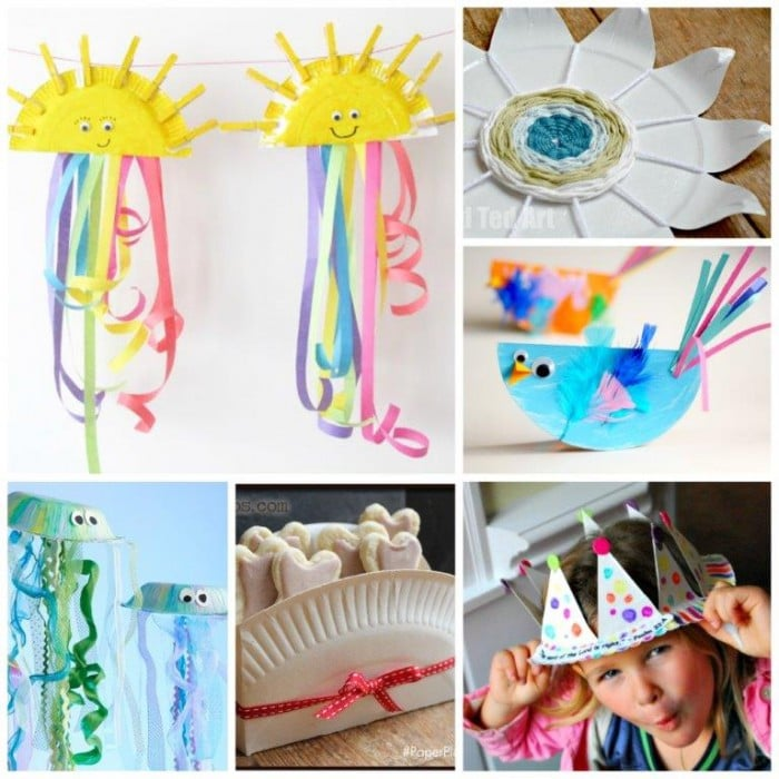 Paper Plate Nest Crafts For Preschoolers