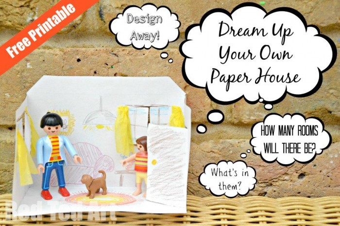 Paper House Printable - Design your own house, what will you put in it