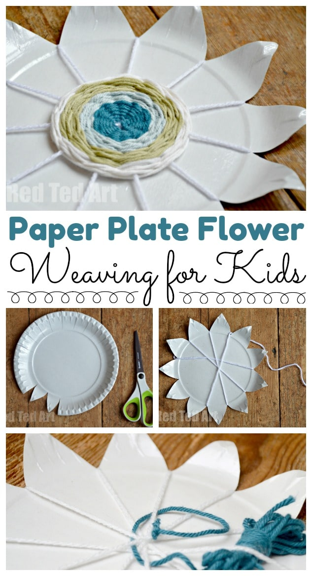 Paper Plate Weaving How To Red Ted Art S Blog