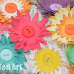 Paper button flowers