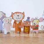 Poppy Cat Crafts Loo Roll Puppets