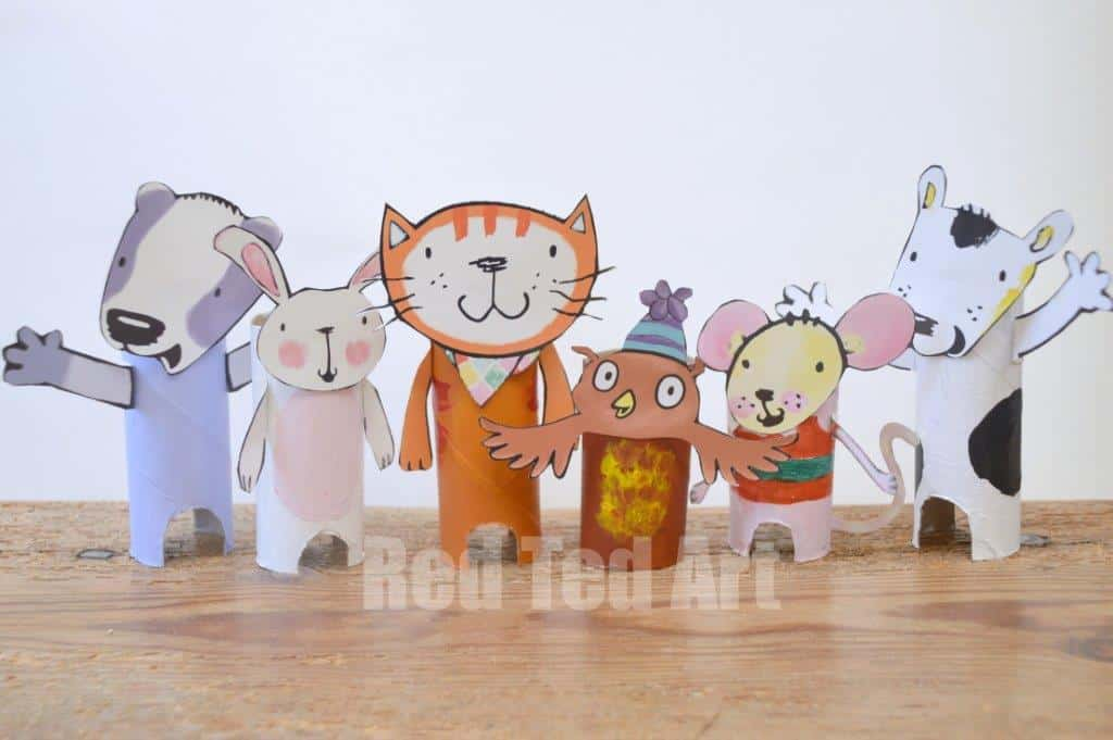 Poppy cat crafts tp roll puppets red ted art 39 s blog for Cat art and craft