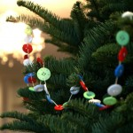 button crafts - garland