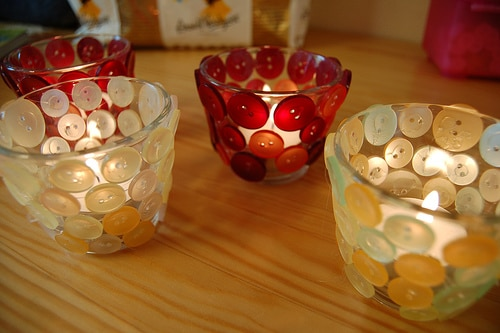 button crafts tea lights