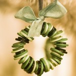 button wreath christmas