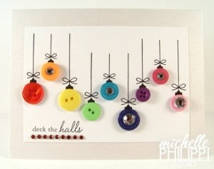 christmas bauble button cards