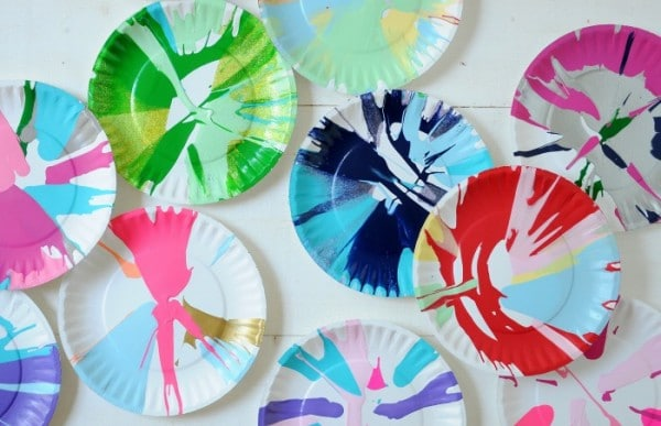 create lovely salad plate spin art