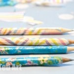 decoupage pencils