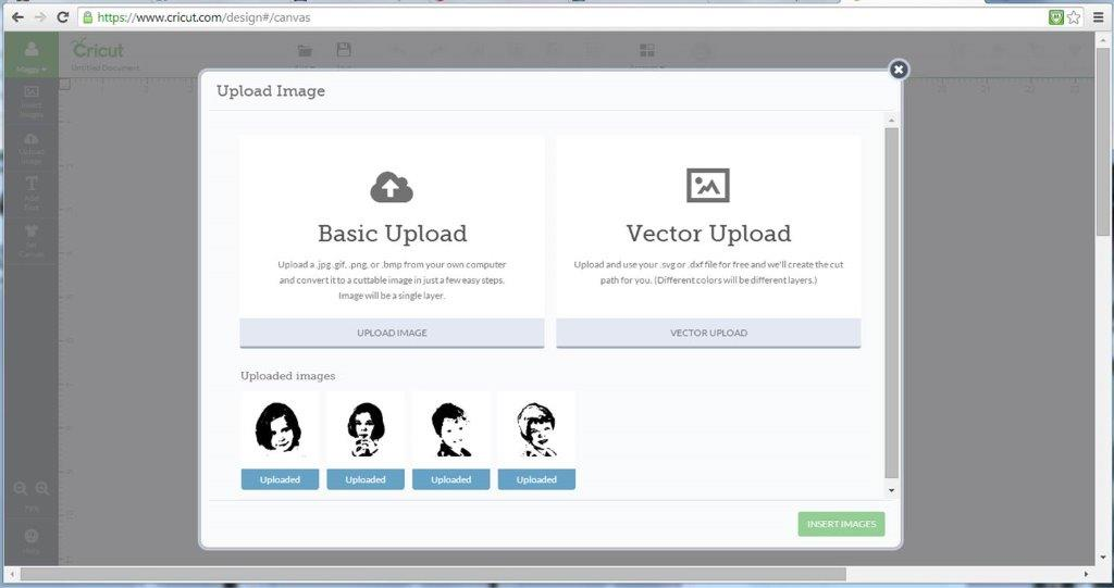 1 Circut Design Space – Basic Upload