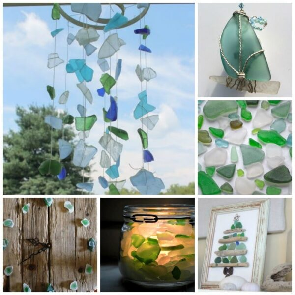12 Wonderful Sea Glass Ideas to inspire - something for all seasons, so very very pretty!