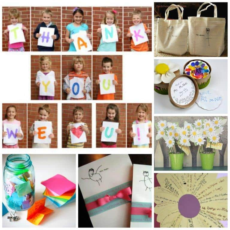 12 Wonderful Teacher Appreciation Gifts that Kids can help make.. Gift Ideas for Teachers #teachers #appreciationweek #gifts