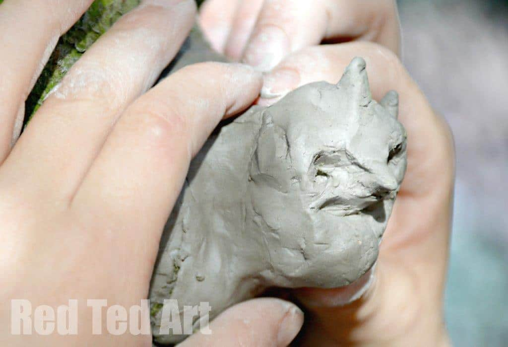 Clay Sculptures in Nature
