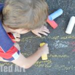 DIY Sidewalk chalk how to