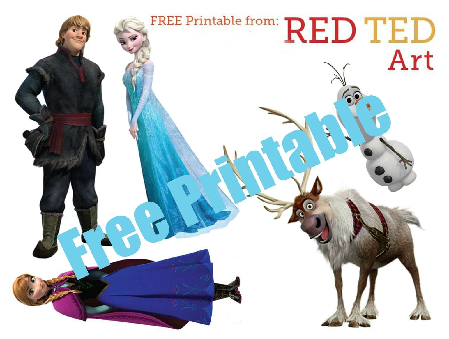 Frozen Characters Free Printable 2 Red Ted Art S Blog