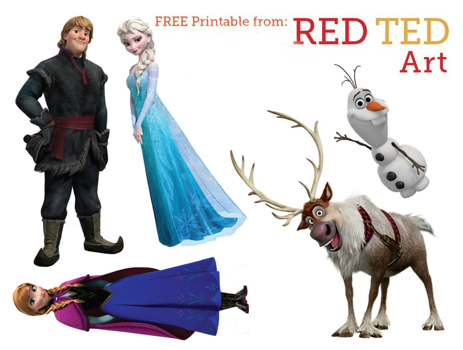 photo relating to Frozen Free Printable identify Disneys Frozen Craft - Puppets - Purple Ted Artwork
