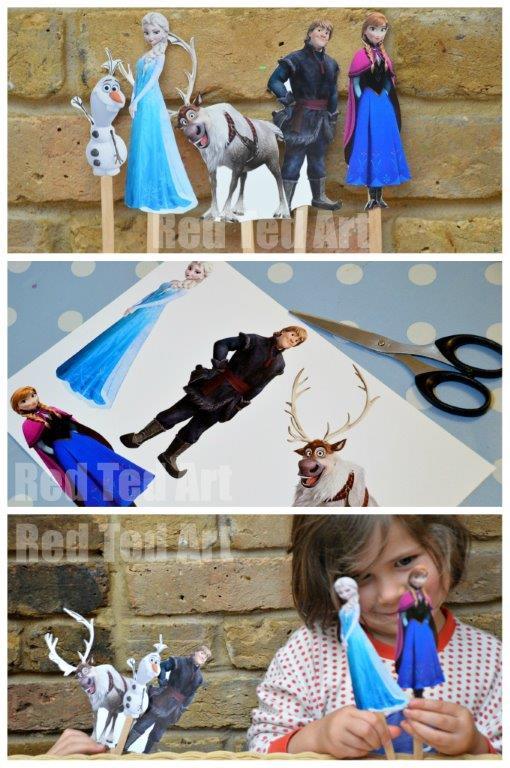 Frozen Crafts - Puppet Printable