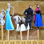 Frozen Puppets Printable Craft
