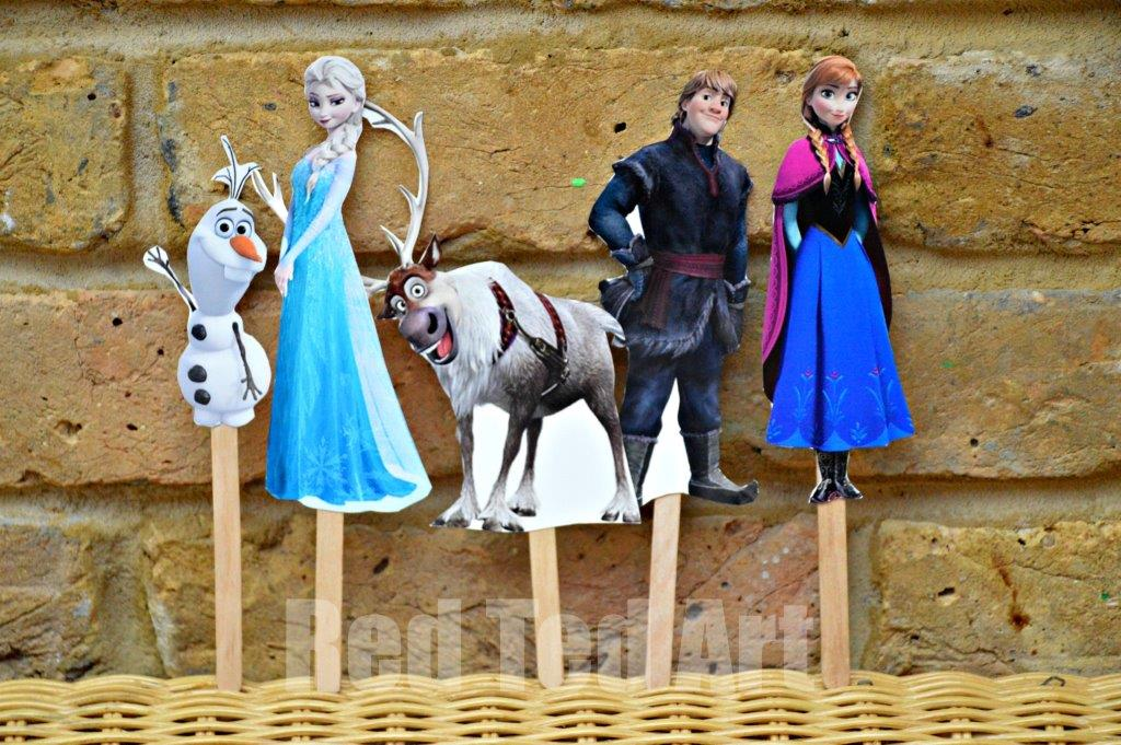 Free printable coloring pages of frozen characters : Disney s frozen craft puppets red ted art s
