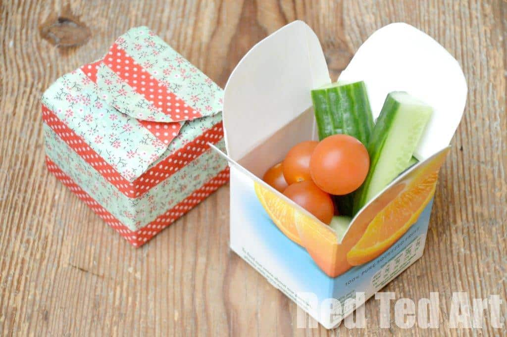 Juice Carton Craft - simple snack box