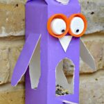 Juice Carton Crafts: Owl Bird Feeder