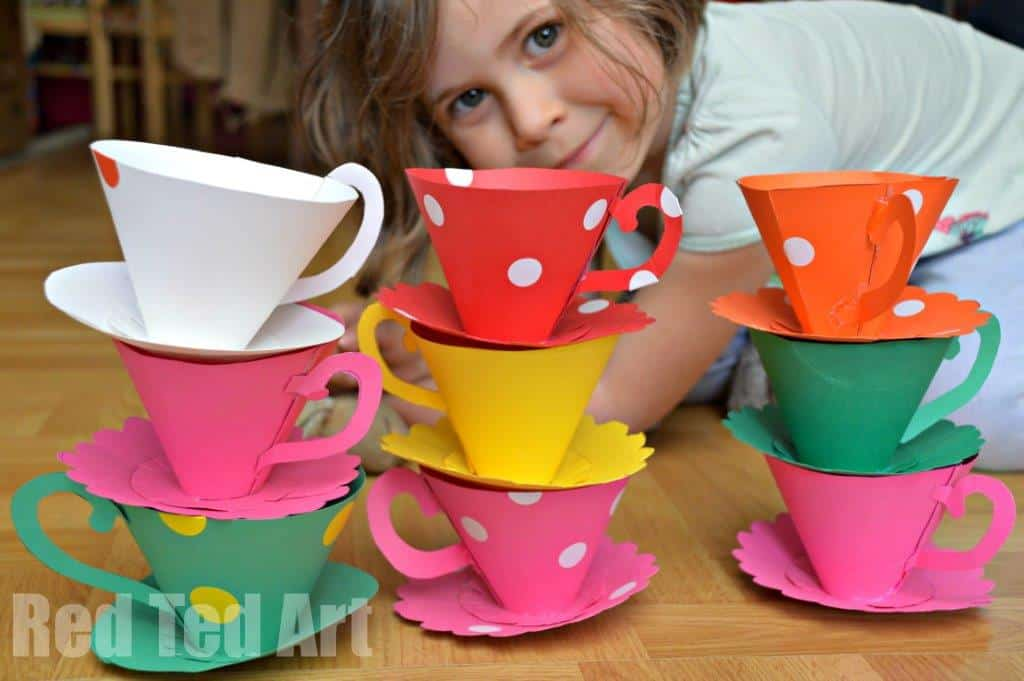 Paper Teacup Printable & Tea Party Games - Red Ted Art