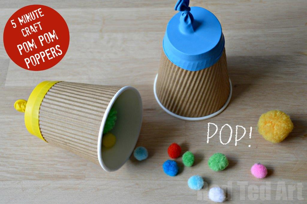 Paper Cup Party Popper Craft Red Ted Art