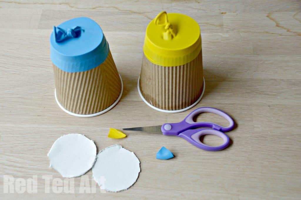 Recycled Coffee Cup Craft - Party Poppers