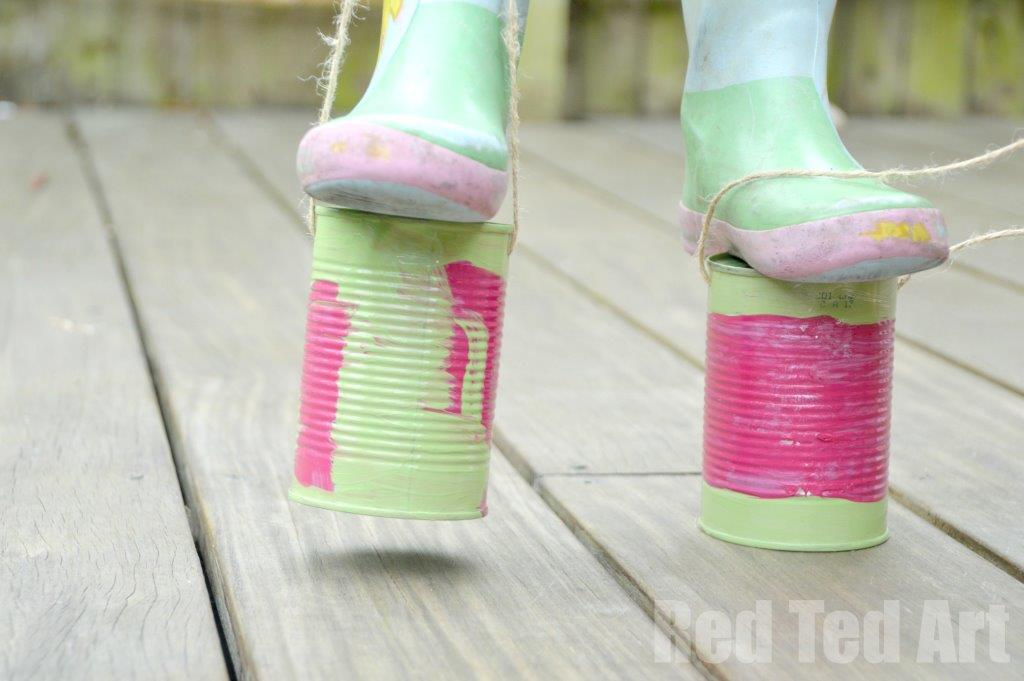 Tin Can Crafts: Stilts