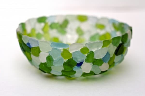 fabulous seaglass bowl idea