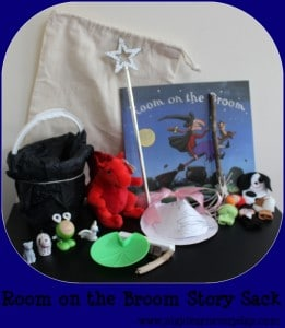 room on the broom story sack